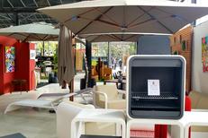 Innov'green Elne vend du mobilier d'extérieur, de la décoration et des éléments de cuisine d'été.