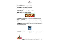 Vaper tout simplement Perpignan - Carte des saveurs Prêt à booster