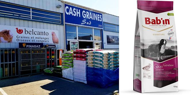 Cash Graines sud annonce une promotion sur les croquettes pour chiens Bab'in