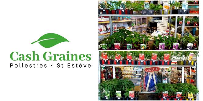 Cash Graines Pollestres vend des plants de fleurs et de légumes