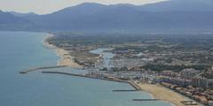 Vue aérienne de Saint Cyprien (crédits photos: OT de St Cyprien - Marion Cuffy)