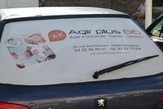 Voiture de l'agence Agir Plus 66 spécialiste de services à domicile et d'aides à la personne sur Perpignan et ses environs (credits photos :networld-S.Delchambre)