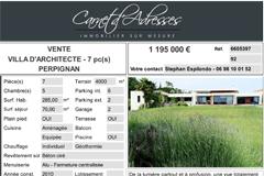 3 Maisons à vendre Perpignan chez Carnet d'adresses Cabestany