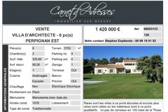 Maison contemporaine Perpignan sur parc par Carnet d'adresses Immobilier