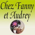 Logo de l'institut de beaute Chez Fanny et Audrey dans la rue des Augustins au centre-ville de Perpignan.
