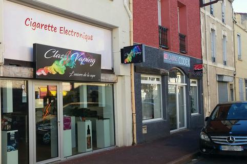 Classvaping Le Soler vend des cigarettes électroniques, des e-liquides et autres accessoires pour vapoter sur l'avenue Victor Hugo en centre-ville. (® SAAM-gontier)