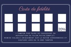 Cordonnerie Le Boulou multi-services Les comptoirs du cordonnier propose une carte de fidélité