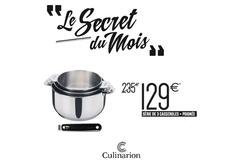 Culinarion Perpignan et sa Promo sur 3 casseroles Lagostina en Mars