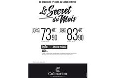 Culinarion Perpignan et sa Promo sur la poêle Titanium Nowo