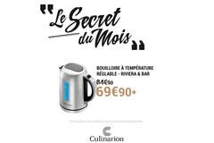 Culinarion Perpignan annonce une Promotion sur la Bouilloire Riviera&Bar de 15 euros ! *