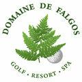 Logo du Domaine de Falgos avec un parcours de golf, un hôtel-restaurant et un Spa, à 1 heure de Perpignan sur la commune de Saint Laurent de Cerdans