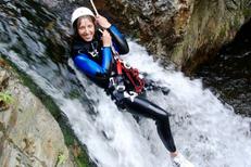 Canyonig PO organisé par Exterieur Nature sur la base d'eaux vives de Marquixanes (® Exterieur Nature)