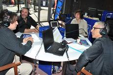 France Bleu Roussillon accompagnait l'inauguration du Théâtre de l'Archipel avec des émissions en direct et des invités (® radio france)