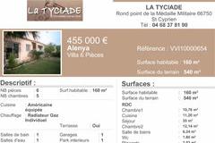Maison à vendre à Alenya par La Tyciade immobilier.