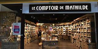 Le Comptoir de Mathilde à Claira propose des produits gourmands, chocolats et épicerie fine. (® SAAM S .Delchambre)