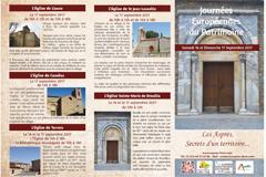 Journées du Patrimoine 2017 dans les Aspres les 16 et 17 septembre