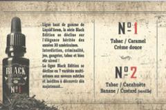 Boutique pour vapoteurs Perpignan Oxygène Mas Guérido présente la gamme Black Edition liquide haut de gamme