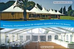 Panoramique Location specialiste de la location de chapiteaux et de tentes dans la ville de Pia