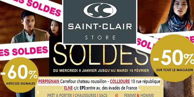 Boutiques Saint Clair Boutiques de marques soldent à -50% et jusqu'a -60% sur une sélection d'articles !
