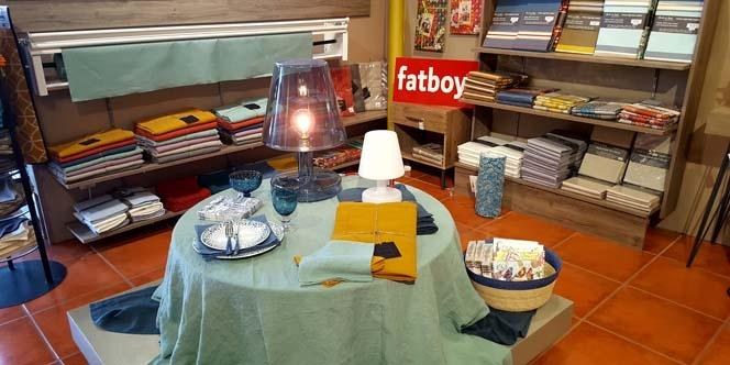 Casa Mathé propose Harmony une nouvelle marque de linge de table à découvrir en boutique à Latour Bas Elne.