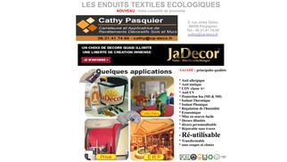 Cathy Pasquier Perpignan utilise Jadecor enduit textile écologique dans le cadre de la rénovation de l'habitat.