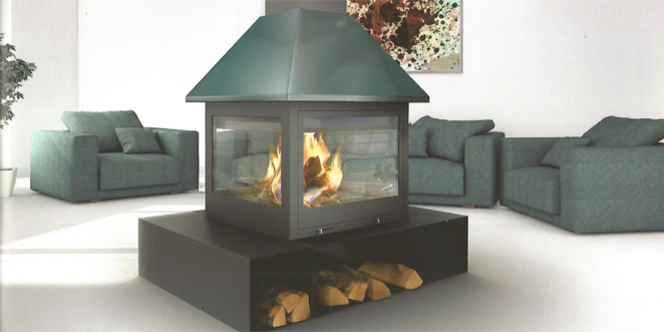 Cheminées Métal Perpignan avec Valdivia qui vend des cheminées contemporaines en métal pour une touche design dans votre intérieur.(® valdivia)