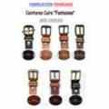 Cordonnerie Anatole France Perpignan propose ses idées cadeaux comme des ceintures en cuir de fabrication française.