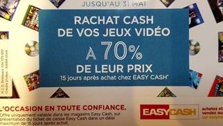 Easy Cash Cabestany et son Opération Rachat jeu vidéo occasion