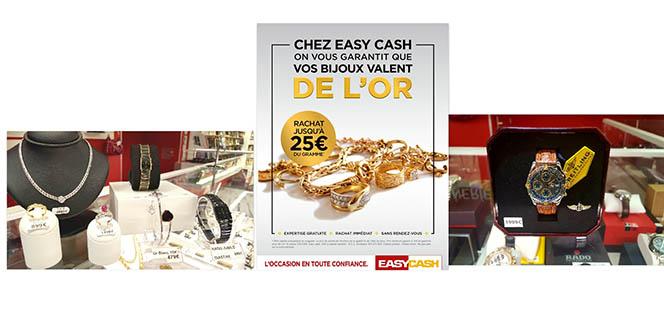 Easy Cash Cabestany spécialiste du rachat d'or à Perpignan propose également des bijoux moins chers, des bijoux d'occasion, des bijoux fantaisie. C'est le magasin idéal pour vos cadeaux de Noël.