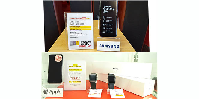 Easy Cash Perpignan a rentré un Samsung Galaxy S9+ neuf en occasion garanti 1 an dans son magasin d'occasion de Cabestany.