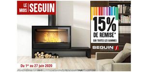 Espace Cheminées 66 annonce le mois SEGUIN et des promos à Perpignan.