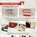 Faire-parts Mariage Perpignan chez Cordonnerie Anatole France ainsi que Faire-parts naissances...