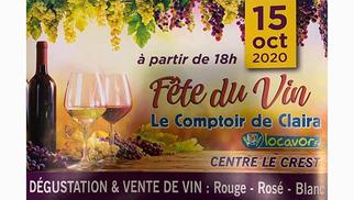 Fête du Vin le jeudi 15 octobre au centre commercial Le Crest