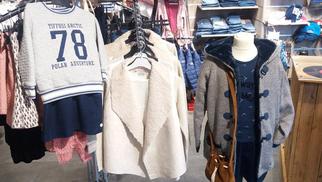 Hello P'tits Loups Perpignan vend la marque Tiffosi pour habiller filles et garçons avec la collection Automne Hiver au Carré d'Or Château Roussillon.(® networld-D.Gontier)