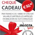 Invicta Shop Perpignan lance son Opération Chèque cadeau !
