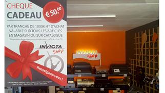 Invicta Shop Perpignan Magasin dédié au chauffage avec des poêles à bois, à granulés, à gaz et des cheminées lance son Opération Chèque cadeau !
