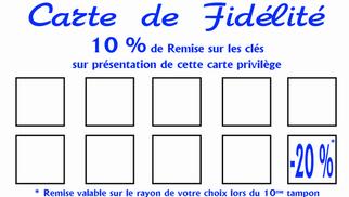 La Cordonnerie Anatole France Perpignan présente sa carte de fidélité