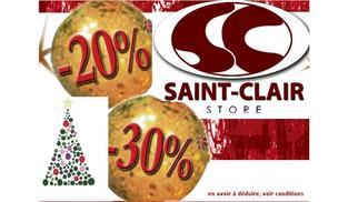 Les boutiques Saint Clair proposent des Promos de Noël à convertir en avoir sur de prochains achats *