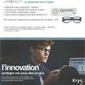 Opticien Bressac Perpignan présente eProtect anti-lumière bleue.(® krys bressac)
