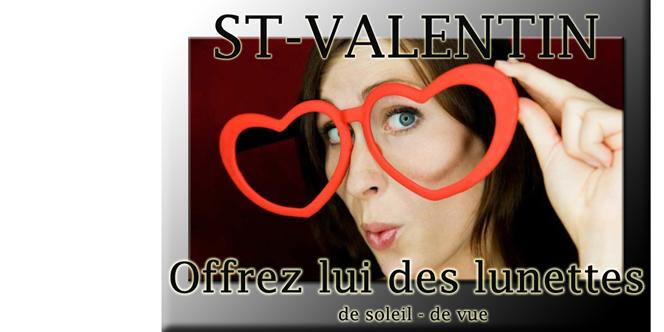 Optique Saint Martin Perpignan propose des idées-cadeaux Saint Valentin tout en bénéficiant des Soldes.