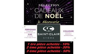 Saint Clair Boutiques de mode et de marques annoncent des remises d'exception pour les Fêtes à Perpignan, Elne et Collioure.