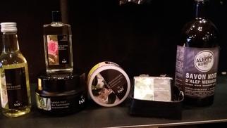 Titelles Thuir vend le savon d'Alep Tadé et sa gamme de produits pour les soins et la maison.(® networld-gontier)
