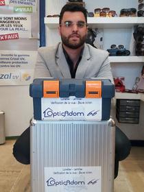 Opticadom66 Perpignan Opticien à domicile Perpignan est dirigé par Ismaël Ouadghiri (® david gontier)