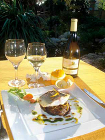 Le Yucca Perpignan présente la recette de la Tartelette de bar au fenouil confit vinaigrette à l'orange (® netwolrd)