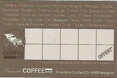 French Coffee Shop Perpignan présente sa carte de fidélité