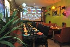 Réunion professionnelle dans le restaurant La Crêpière dans la rue des Augustins de Perpignan (credits photos : EDV-S.Delchambre)