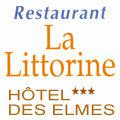 Logo du restaurant La Littorine sur la plage des Elmes face a la mer dans le village de Banyuls sur Mer.