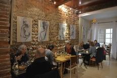 Salon de thé Les Enfants Gâtés Perpignan propose des Expositions d'oeuvres (® NetWorld-S.Delchambre)