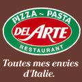Logo de Pizza del Arte sur le boulevard Desnoyes dans le quartier Bas Vernet de Perpignan.